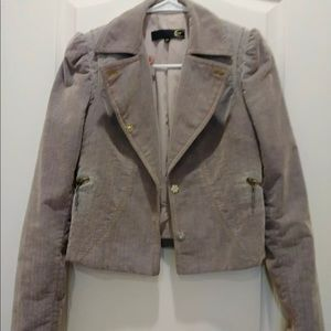 High waisted gray ladies jacket